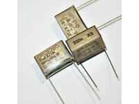 2 x 1.5µF 1.5uF 1500nF 250V Folien Kondensator Capacitor Radial RIFA  2pcs