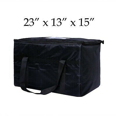 Black Nylon Insulated Food Delivery Bag 23 X 13 X 15easy Care