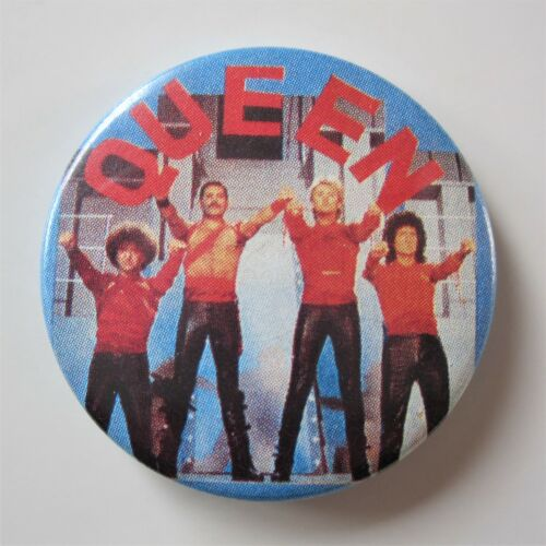 "Queen : Original Radio Ga Ga 1984 Vintage Metal 1.25 "" Button Pin Badge"