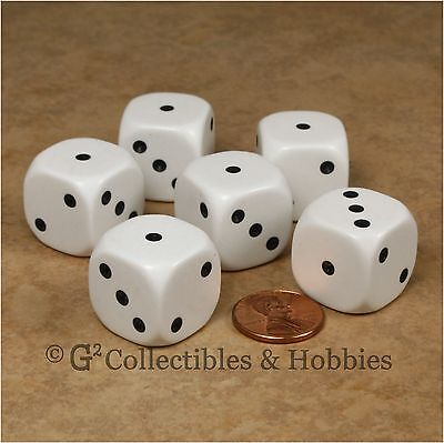 Used, NEW Set of 6 Large 20mm Spotted D3 Six Sided 1 to 3 Twice Game Dice D&D RPG  for sale  Columbus