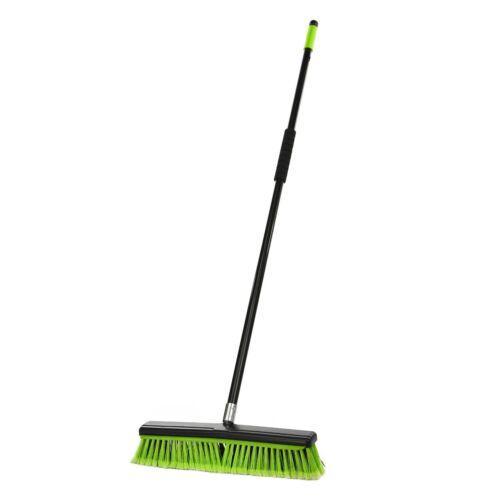 Alpine Industries 18 in. Green Commercial Indoor 2-in-1 Squeegee Push Broom