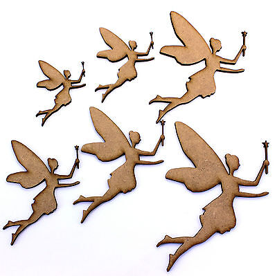 - Fairy with Wand Craft Shapes. Various Sizes 50mm - 200mm. 2mm MDF Wood Laser Cut