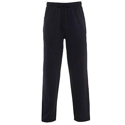 Mens Boys Jogging Bottoms Joggers Open Hem Plain Pockets Drawstring Size New