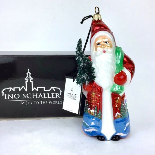 INO SCHALLER SANTA Christmas Tree ORNAMENT Figure JOY TO THE WORLD POLAND