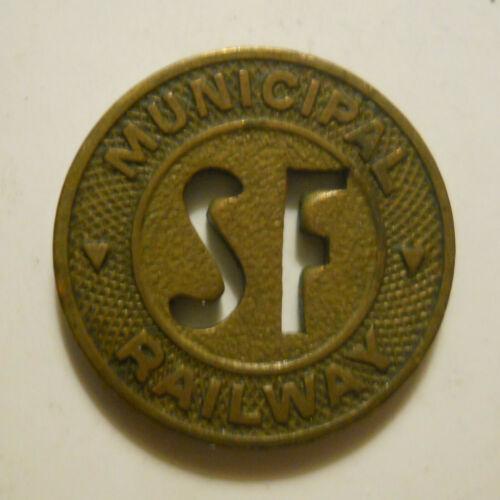 San Francisco Municipal Railway (California) transit token - CA760F
