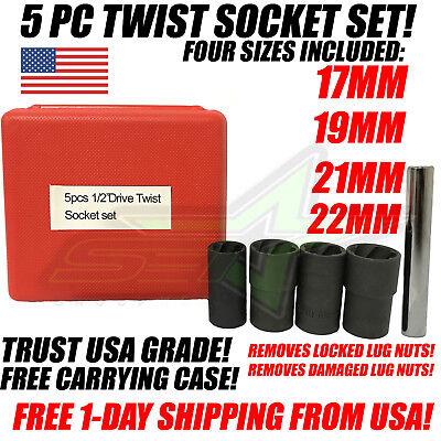 - 5pc Twist Socket Set 1/2