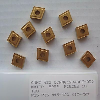 10 New Cnmg 432 Carbide Inserts Gold Turning Lathe Made By Pramet A Seco Company