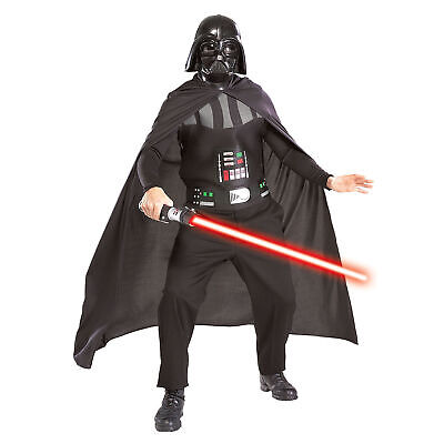 Darth Vader Star Wars Adulti Costume Halloween Kit & Spada Laser
