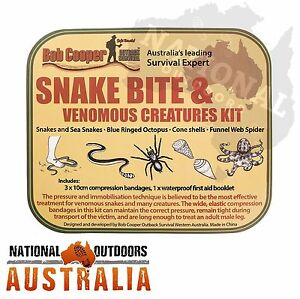Snake Bite Kit Australia 2015 Fishing Hunting Bushwalking Farming Glovebox 4X4