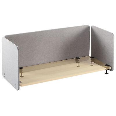 Used Vivo Gray Clamp-on 60 24 Desktop Privacy Panels 3 Panels Desk Dividers