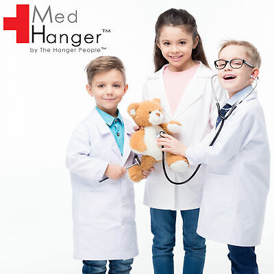 Kids Doctors Scientist Medical White Lab Coat Fancy Costume Great For Halloween