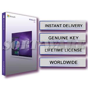 Windows 10 Pro Professional 32 64 Genuine Product Key