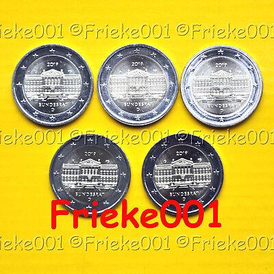 Duitsland - Allemagne - 5x 2 euro 2019 comm.(Bundesrat)