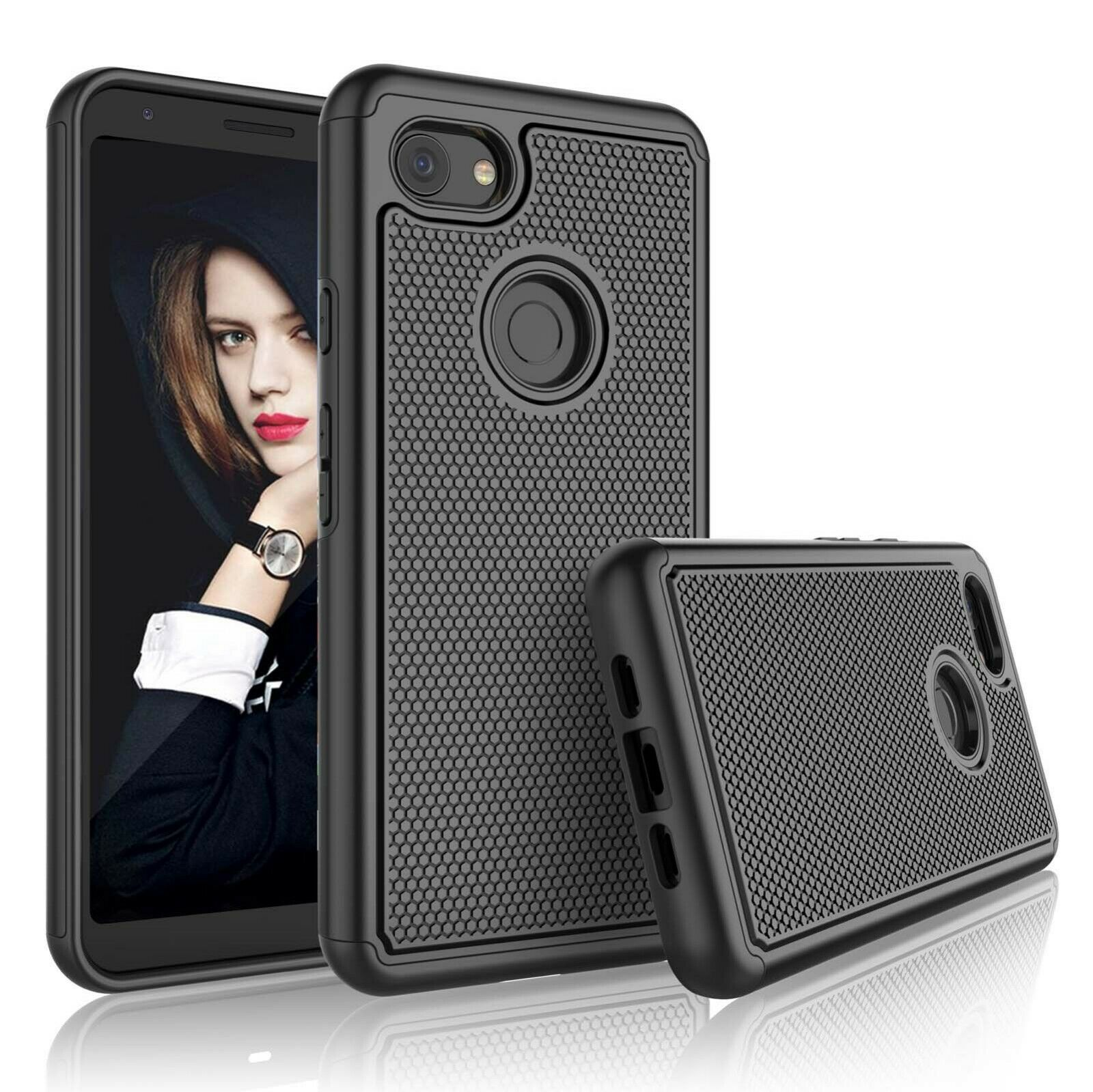 For Google Pixel 2 XL 3 XL 3a XL Phone Case Shockproof Rubber Protective Cover Cases, Covers & Skins