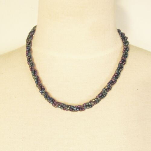 """20 PCS  18"""" Handmade Black AB Color Beaded Rope Chain Necklace WHOLESALE LOT"""
