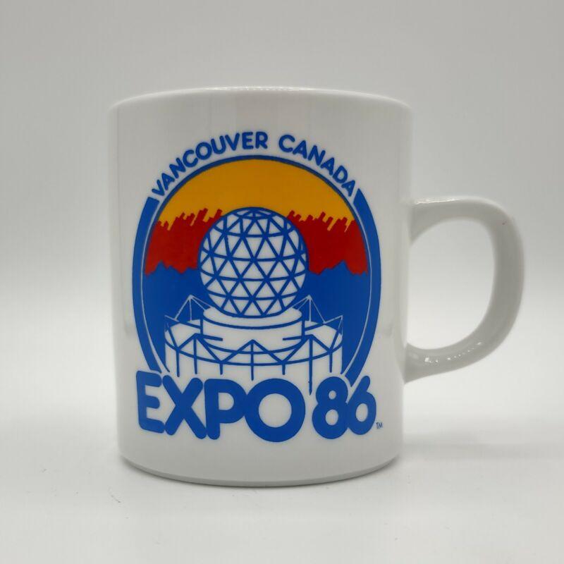 Vintage EXPO 86 Vancouver, Canada Ceramic Coffee Mug Tea Cup