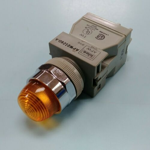 idec APW2126D-A 22mm Pilot Light -  Amber - 110/250VAC - 6V LED Bulb - 1pcs