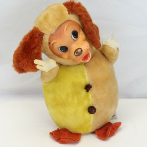 Disney Lady & Tramp Rubber Face Plush Musical Baby Toy Roly Poly Vintage