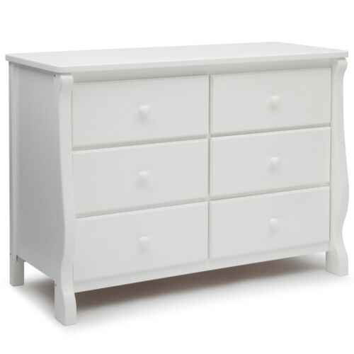 Delta Children 6 Drawer Dresser, White
