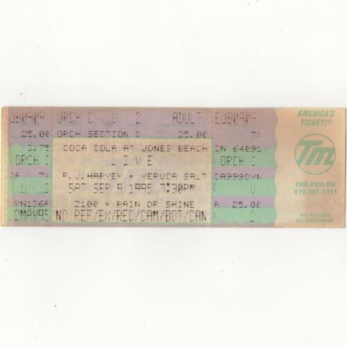 LIVE & PJ HARVEY & VERUCA SALT Concert Ticket Stub WANTAGH NY 9/9/95 JONES BEACH