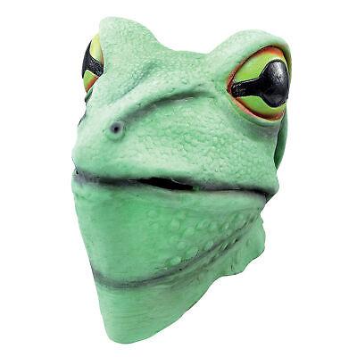 Herren Frosch Maske Reptil Tier Toad Voller Kopf - Toad Kopf Kostüm