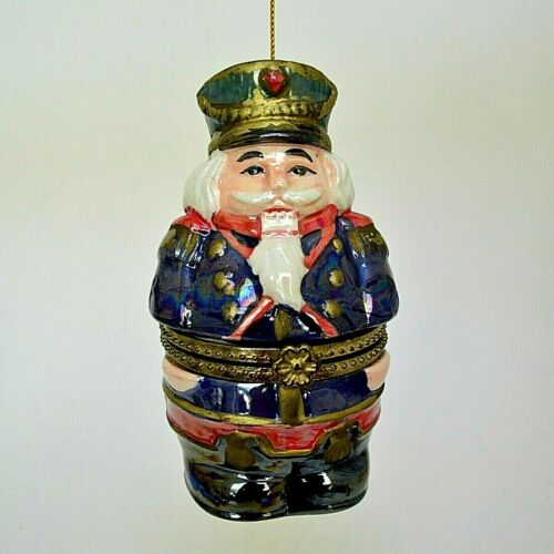 "Mr Christmas Animated Musical Nutcracker Christmas Ornament 4.25"" Porcelain"