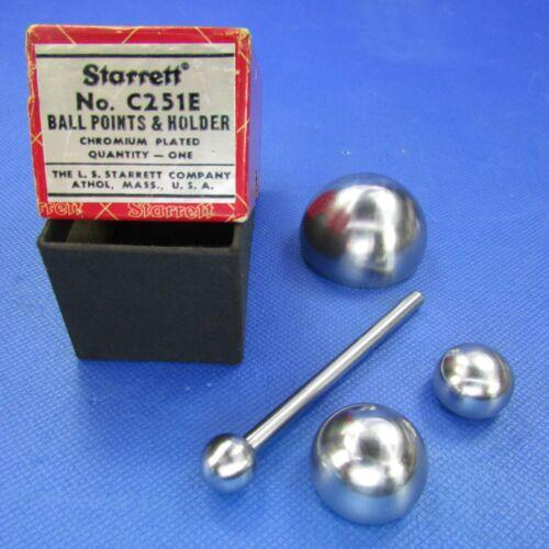 STARRETT  C251E  Ball Points & Holder in original box 🎯 Machinist