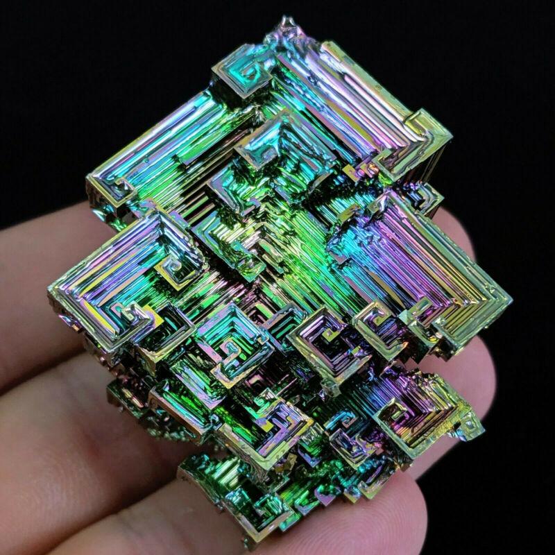 50g Natural Rainbow Aura Titanium Bismuth Crystal Specimen Gemstone Rock Healing