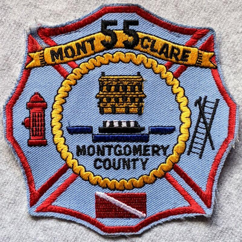 Pennsylvania - Defunct Mont Clare Fire Co 55 , Black Rock Montco 99 Dept Patch