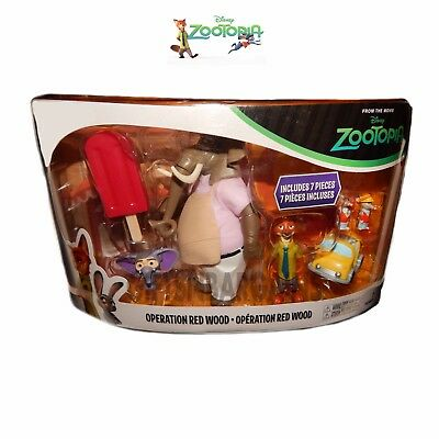 TOMY Disney Zootopia Toy Figure Play Set Operation Red Wood Kids Gift 7 Pc Nick