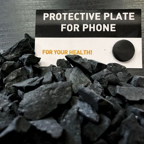 Shungite rough stones for water chips 2,2 lb 1kg +GIFT 1 protective plate detox