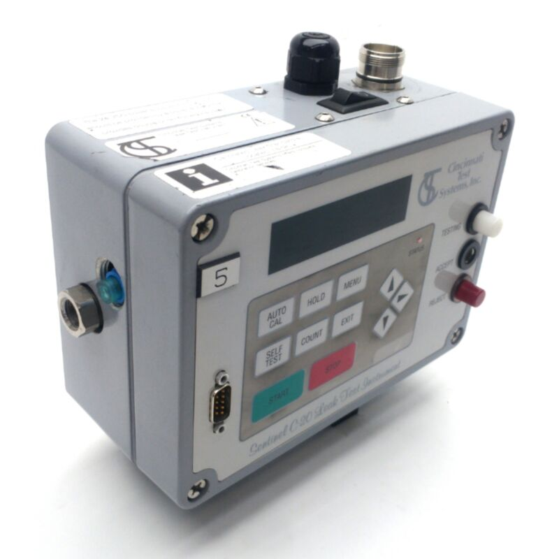CTS Sentinel C-20 Pressure Decay Test System, 0-15PSI, RS232, 24VDC *No Bulb*
