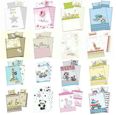 Baby Wende Bettwäsche Sets - viele süße Motive - Flanell oder Renforcé 100x135 (Bettwäsche-sets)