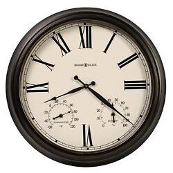NEW HOWARD MILLER OUTDOOR WALL CLOCK 625-677 CALLED ASPEN 22 DIAMETER 625677