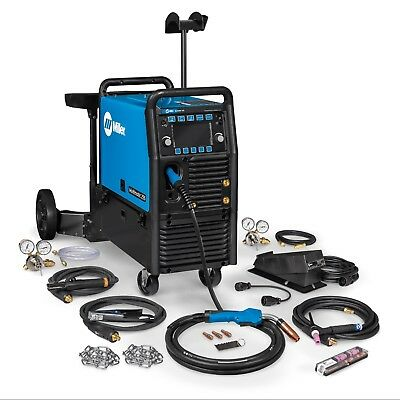 Miller Multimatic 255 Pulsed Multiprocess Welder Wcart And Tig Kit 951768