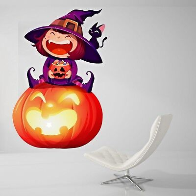 Halloween Night Wall Decal Living Room Pumpkin Wall Paper Sticker J454 (Halloween Wallpaper Live)
