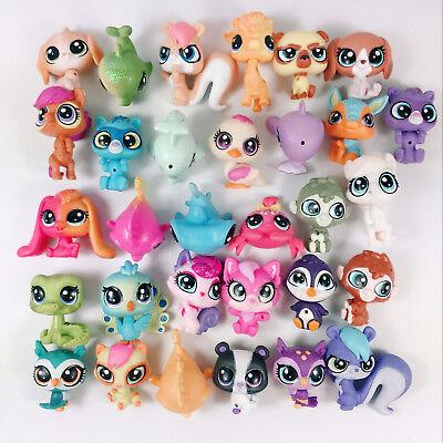 1-20pcs Random Hasbro Littlest pet shop LPS Mini Figure Cute Animal Girl Toys