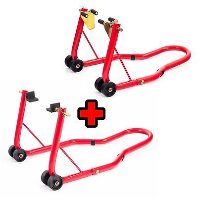 Front And Rear Motorcycle / Bike Paddock Stand / Stands Combo / Pair