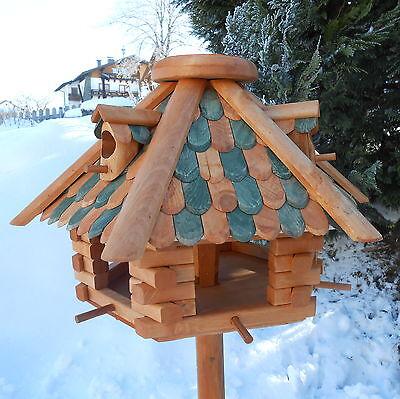 Luxus Vogelhaus Top-Qualität XXL Holz Futterhaus Vogelhäuser impregniert Großes Holz-futterhaus