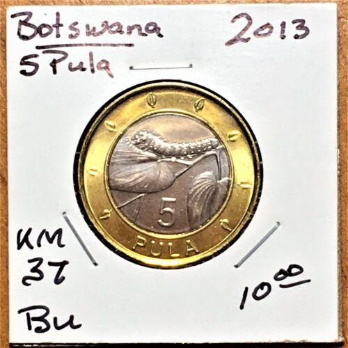 2013 Botswana 5 Pula, KM# 37, BU (27)