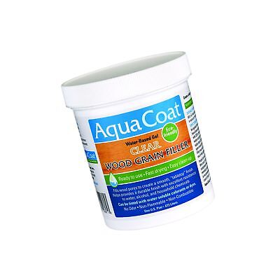 Aqua Coat, Best wood grain Filler. Clear Gel, Water based, Low Odor, Fast