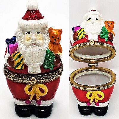 CHRISTMAS ENGAGEMENT RING HOLDER Santa Ornament Splits Open to Reveal SURPRISE!