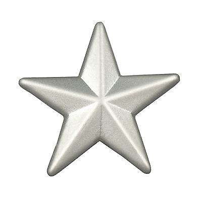 Pin Stern silber Bottom 15 mm Anstecker Anstecknadel silberfarben matt