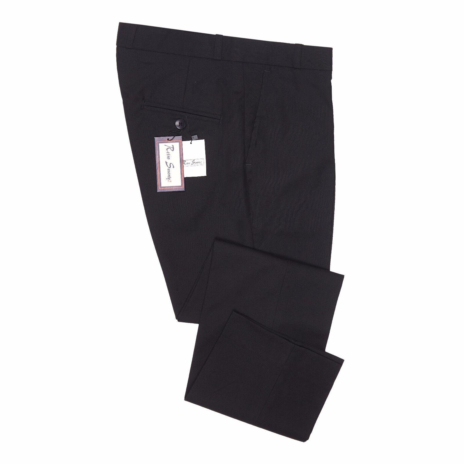 Classic da uomo Retro Vintage STA stampa pantaloni mod pelle anni '60 70 SLIM