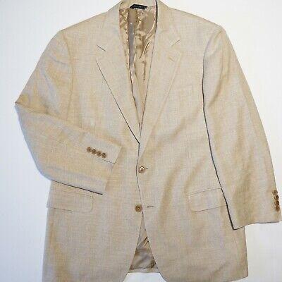 Brooks Brothers x Lardini Silk Linen Cotton Slubby Sport Coat Blazer Made Italy