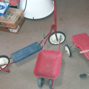 Antique Scooter ,Tricycle and Wheelbarrow