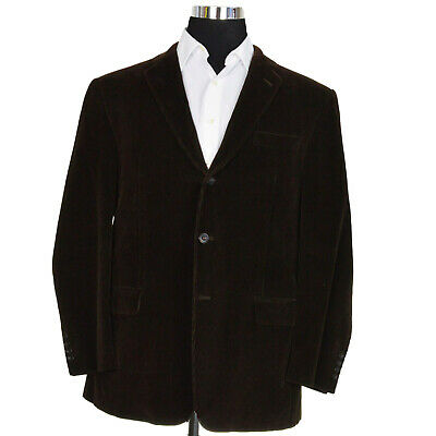 Hickey Freeman Sportcoat Sz 46R Brown Corduroy Fully Lined 100% Cotton