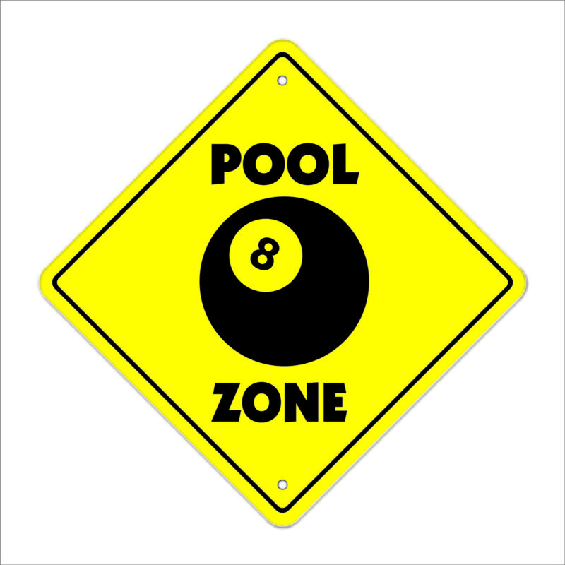 Pool Crossing Decal Zone Xing hall table 8 ball billiards cue stick hustler
