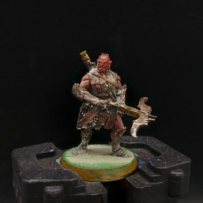 "painted warhammer LoTr uruk hai scout ""vrasku"" (metal) games workshop 28mm"