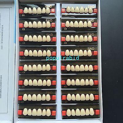 16pcs A2 Upper Anterior S1 Dental Acrylic Teeth Synthetic Resin False Denture